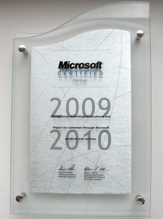 Microsoft Certified Partner 2009-2010